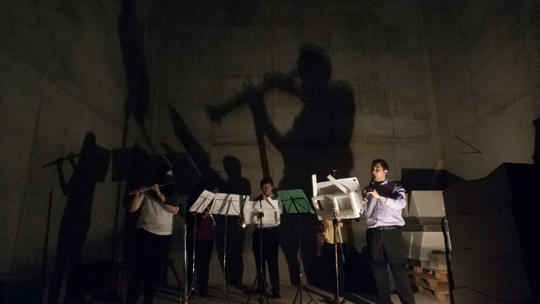 O Quinteto Tamadedashi nas sesións anecoicas de SINSAL